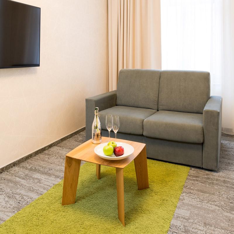 Junior suite - dvojlůžkový pokoj FAIRHOTEL Brno